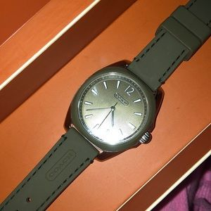 Olive green coach watch
